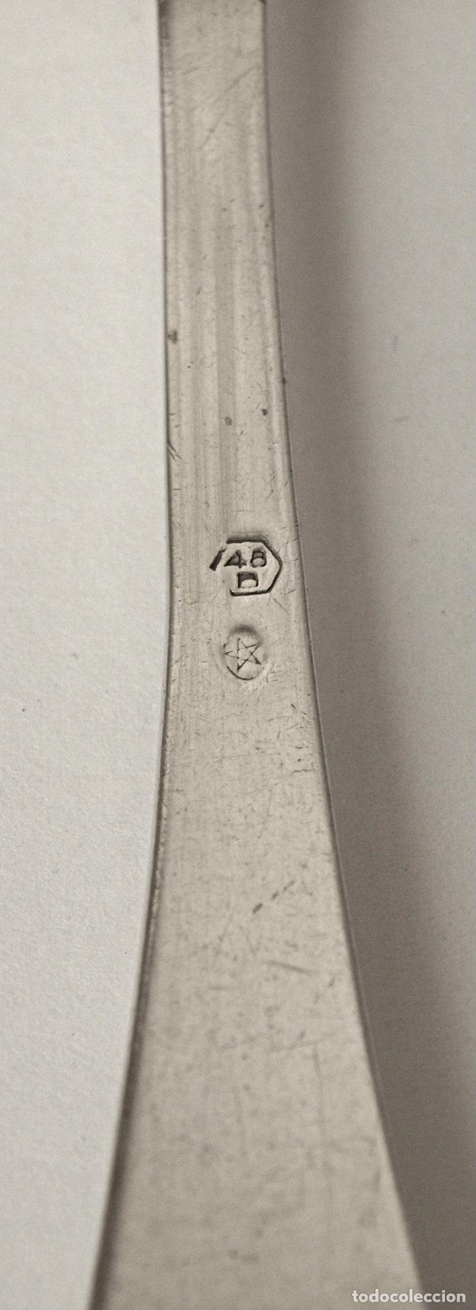 Antigüedades: CUCHARA DE PLATA DE LEY CONTRASTADA.21 CM. 76,8 GRAMOS. VER FOTOS Y DESCRIPCION - Foto 10 - 171379154
