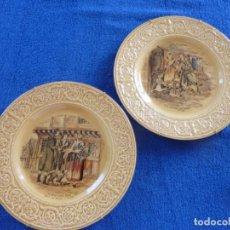 Antigüedades: 2 PLATOS PORCELANA CROWN DEVON- ENGLAND.. Lote 171405487
