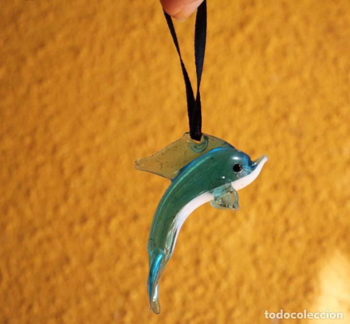 Antigüedades: Delfín de cristal de Murano (pez) - Foto 3 - 171406548