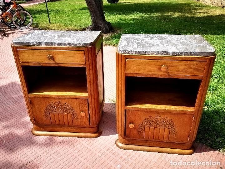 MESILLAS DE NOCHE ART DECO (Antigüedades - Muebles Antiguos - Auxiliares Antiguos)