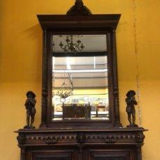 Antigüedades: APARADOR CON ESPEJO RENACIMIENTO. R 6356. Lote 171425797