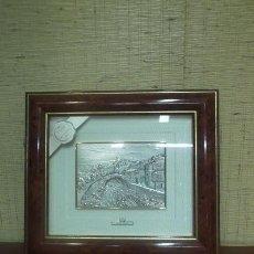Antigüedades: DOS CUADROS DE PAISAJES ITALIANOS EN PLATA DE 925MILÉSIMAS.. Lote 171441463