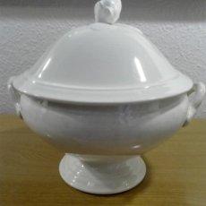 Antigüedades: SOPERA SUR DE FRANCIA. LOZA BLANCA. Lote 171441840