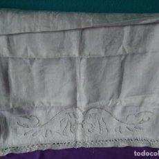 Antigüedades: 18-ANTIGUO CAMINO DE MESA GRANDE TELA ADAMASCADA. Lote 171443102