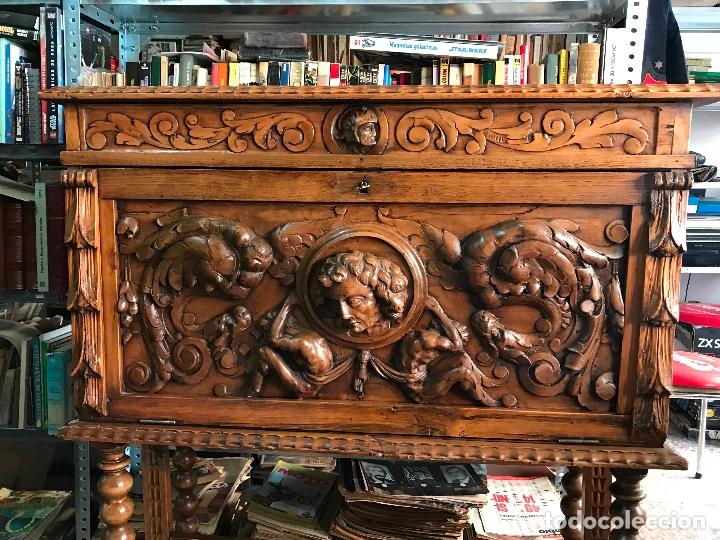 Antigüedades: Bargueño siglo XIX estilo renacimiento o renacentista - Foto 3 - 171449475