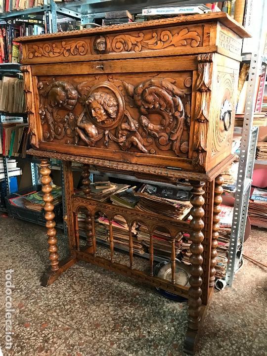 BARGUEÑO SIGLO XIX ESTILO RENACIMIENTO O RENACENTISTA (Antigüedades - Muebles Antiguos - Bargueños Antiguos)