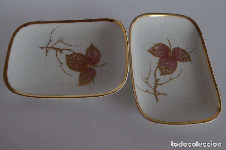 PAREJA DE BANDEJITAS ALEMANAS (Antigüedades - Porcelana y Cerámica - Alemana - Meissen)