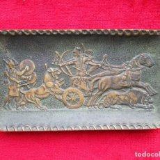 Antigüedades: TARJETERO EN BRONCE FIRMADO POR EL ESCULTOR MAX LEVERRIER. - ASSYRIENS -. Lote 171471705