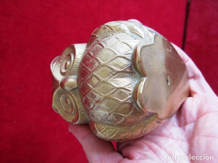 Antigüedades: BÚHO DE BRONCE MUY LABRADO, MUCHO DETALLE, PRECIOSO, DE COLECCIÓN - Foto 5 - 171478027