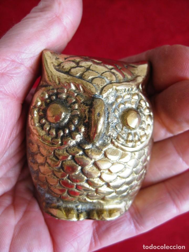 Antigüedades: BÚHO DE BRONCE MUY LABRADO, MUCHO DETALLE, PRECIOSO, DE COLECCIÓN - Foto 4 - 171485160