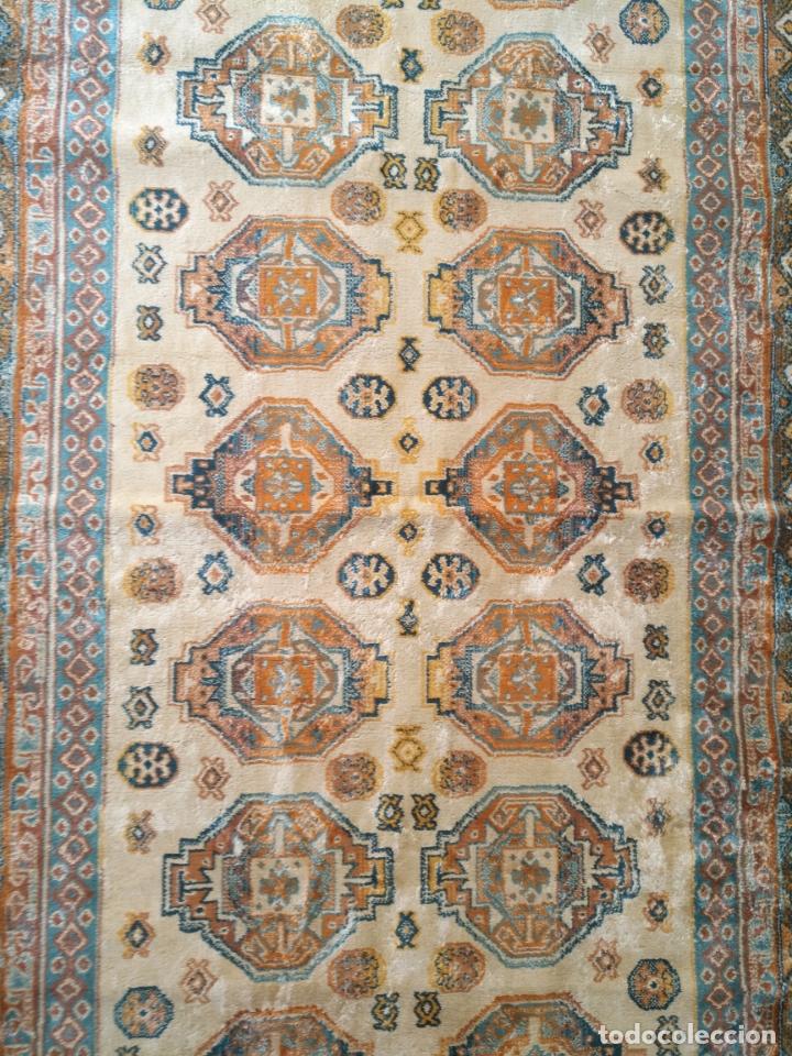 Antigüedades: gran alfombra larga tipo tapiz - pasillo escalera .... 225x67 cm + los flecos - Foto 5 - 171501378