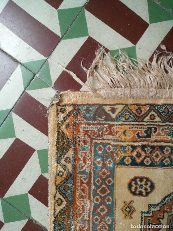 Antigüedades: gran alfombra larga tipo tapiz - pasillo escalera .... 225x67 cm + los flecos - Foto 6 - 171501378