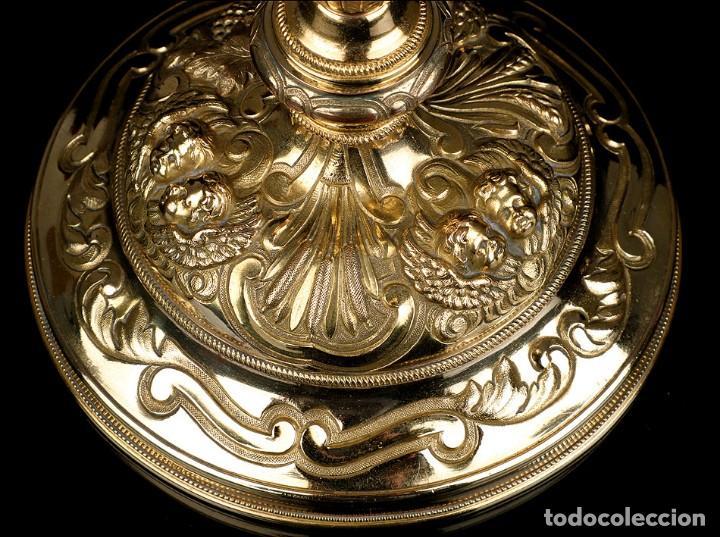Antigüedades: Antiguo Copón en Plata Dorada. Francia, Circa 1860 - Foto 4 - 171507828