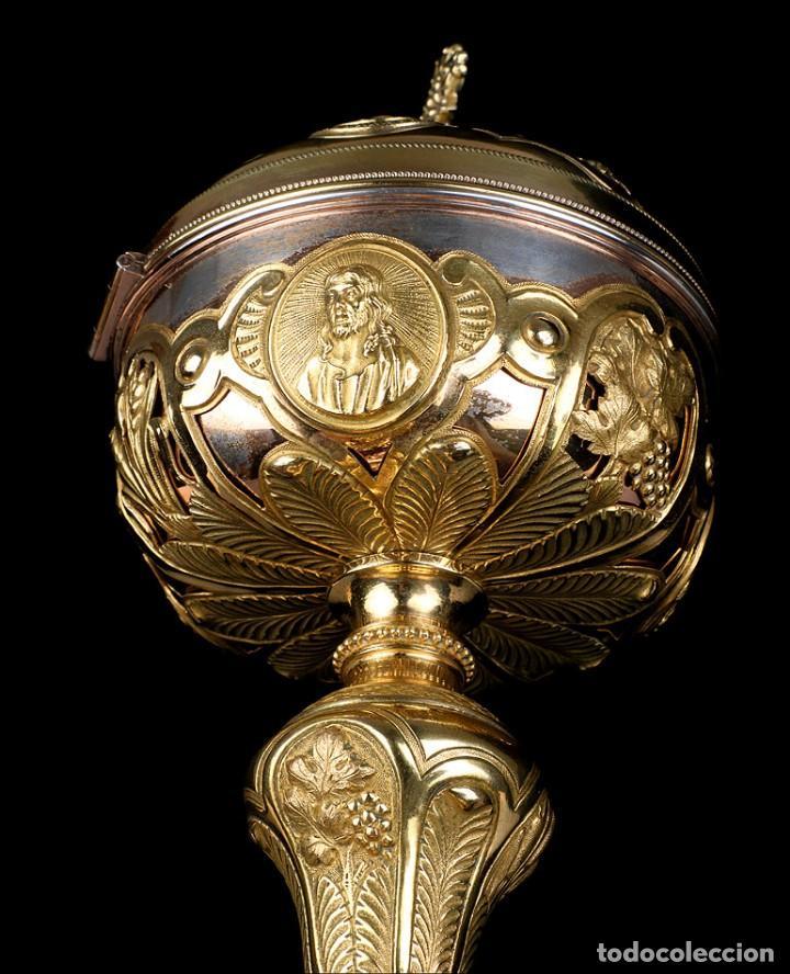 Antigüedades: Antiguo Copón en Plata Dorada. Francia, Circa 1860 - Foto 12 - 171507828