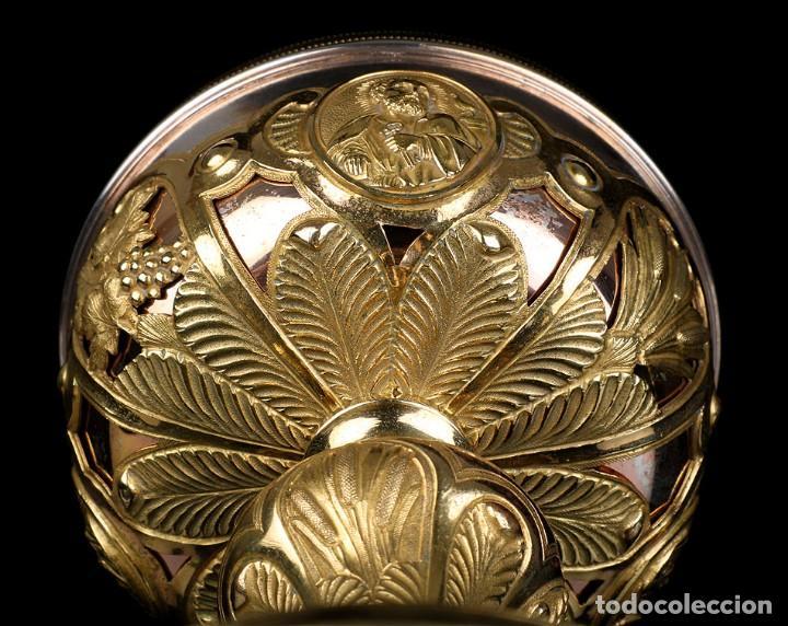 Antigüedades: Antiguo Copón en Plata Dorada. Francia, Circa 1860 - Foto 13 - 171507828