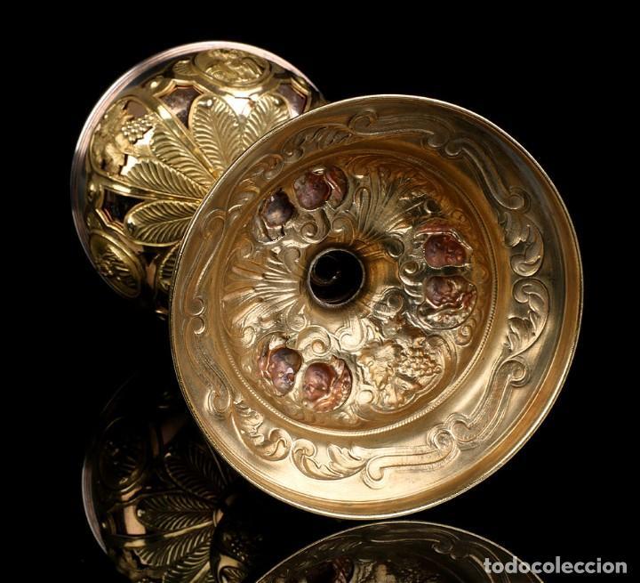 Antigüedades: Antiguo Copón en Plata Dorada. Francia, Circa 1860 - Foto 29 - 171507828