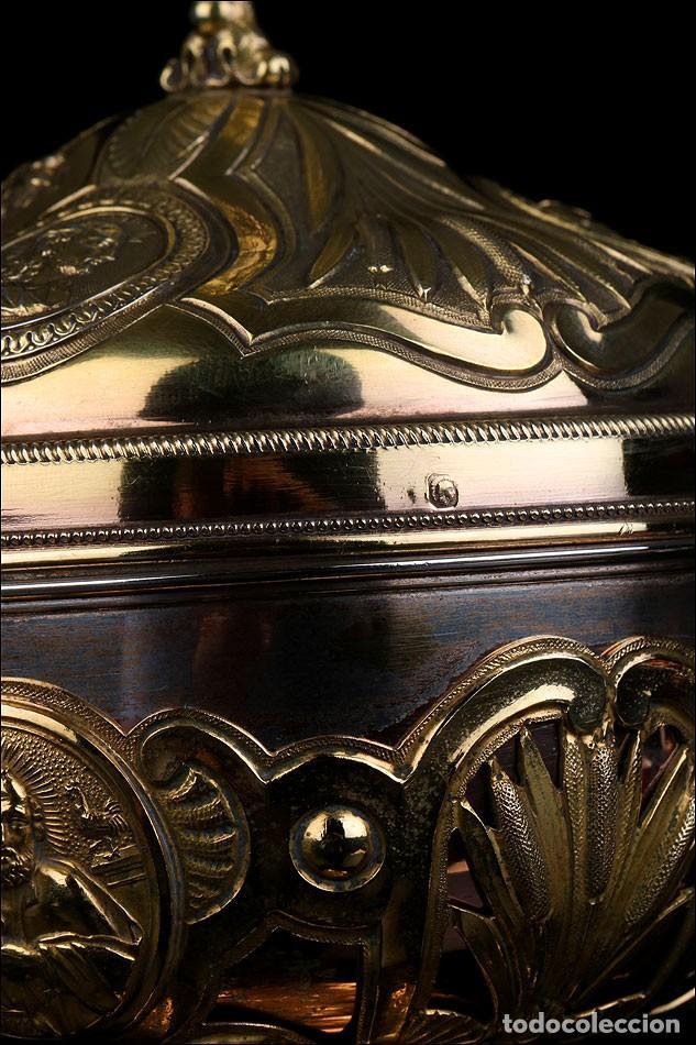 Antigüedades: Antiguo Copón en Plata Dorada. Francia, Circa 1860 - Foto 31 - 171507828