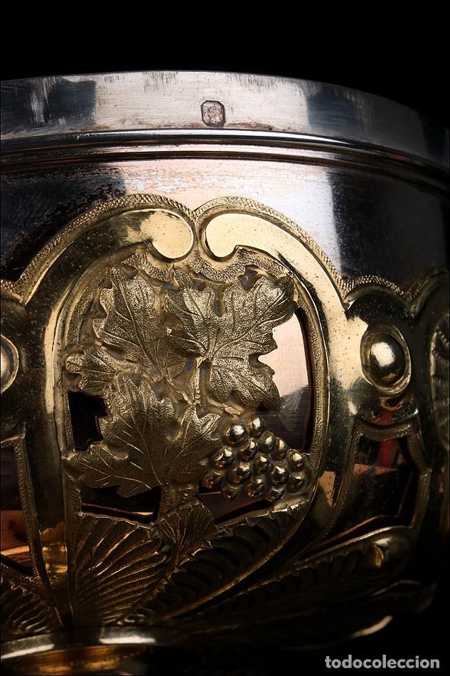 Antigüedades: Antiguo Copón en Plata Dorada. Francia, Circa 1860 - Foto 33 - 171507828