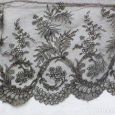 Antigüedades: ANTIGUO ENCAJE DE CHANTILLY S.XIX. Lote 171512857