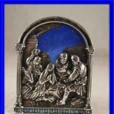 Antigüedades: NACIMIENTO DE JESUS EN PLATA Y ESMALTE . Lote 171519335