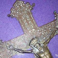 Antigüedades: CRUCIFIJO DE BRONCE.. Lote 171520909