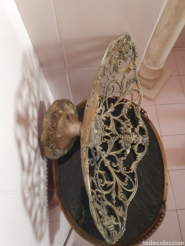 Antigüedades: PRECIOSO Y ANTIGUO CENTRO DE MESA O FRUTERO - Foto 5 - 171521620