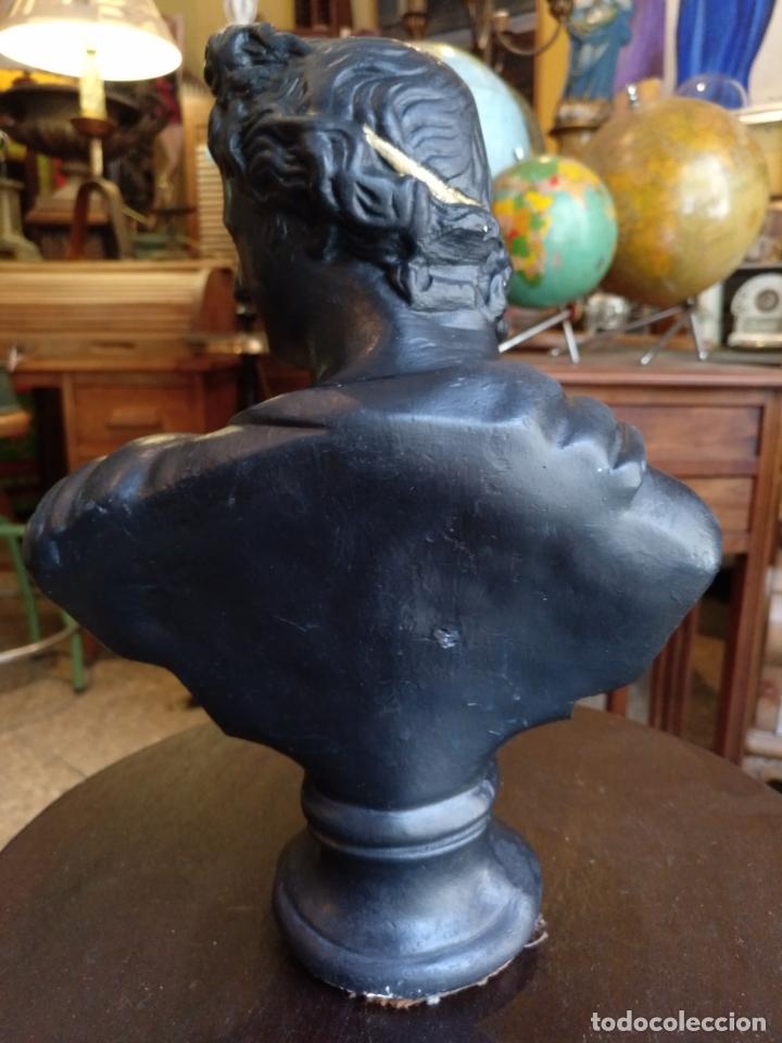 Antigüedades: ANTIGUO BUSTO ROMANO , EN ESTUCO , ORIGINAL ANTIGUO - Foto 2 - 171533564