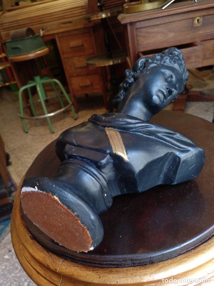 Antigüedades: ANTIGUO BUSTO ROMANO , EN ESTUCO , ORIGINAL ANTIGUO - Foto 8 - 171533564