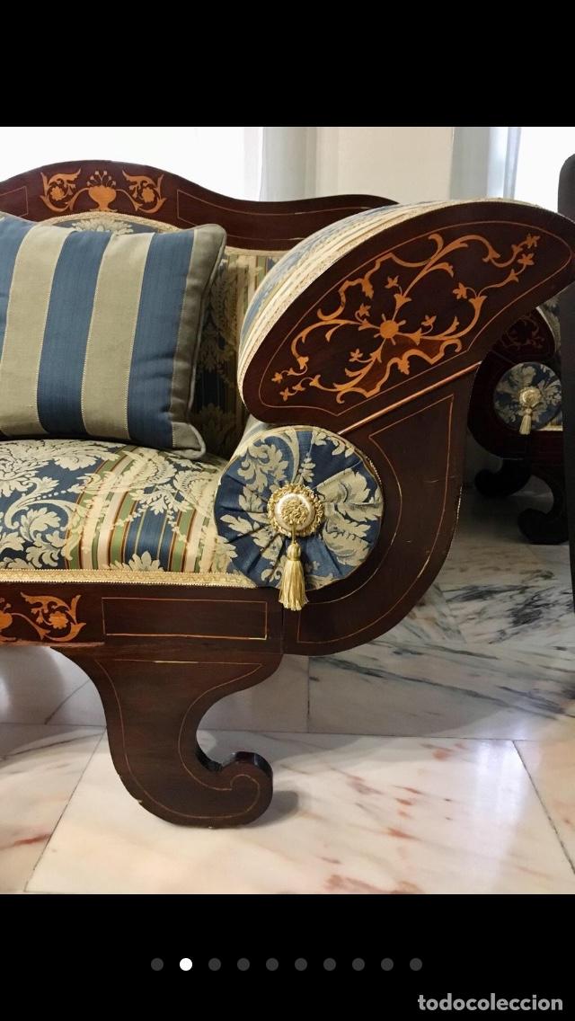 Antigüedades: Sillón tapizado con marquetería - Foto 2 - 171538632