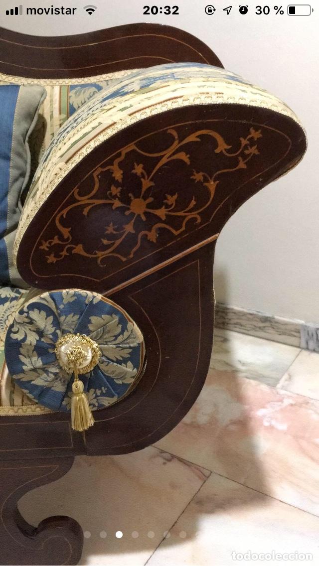 Antigüedades: Sillón tapizado con marquetería - Foto 3 - 171538632