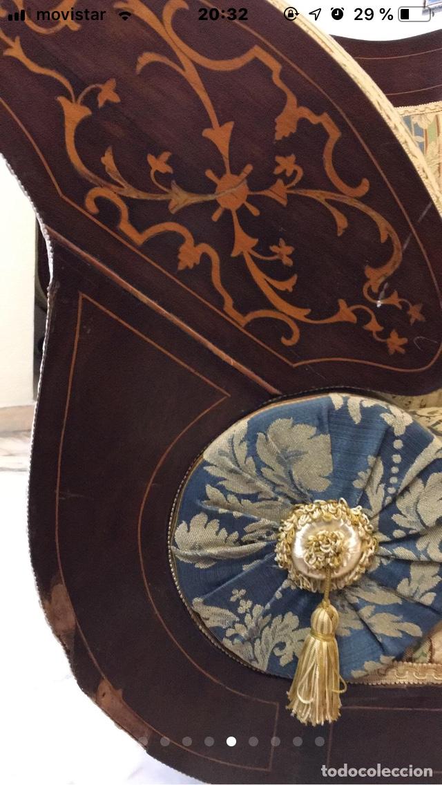 Antigüedades: Sillón tapizado con marquetería - Foto 6 - 171538632