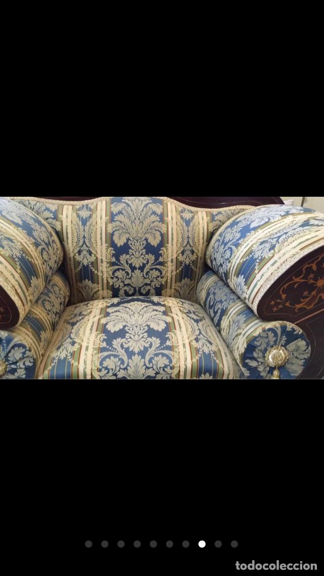 Antigüedades: Sillón tapizado con marquetería - Foto 8 - 171538632
