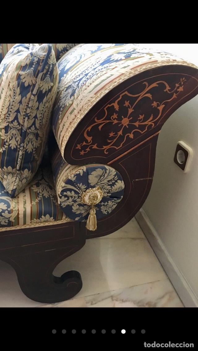 Antigüedades: Sofá tapizado con marquetería - Foto 3 - 171538733
