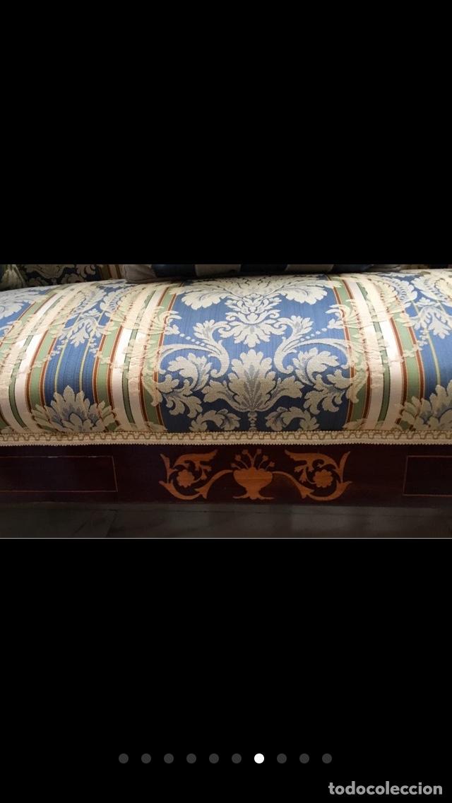 Antigüedades: Sofá tapizado con marquetería - Foto 4 - 171538733