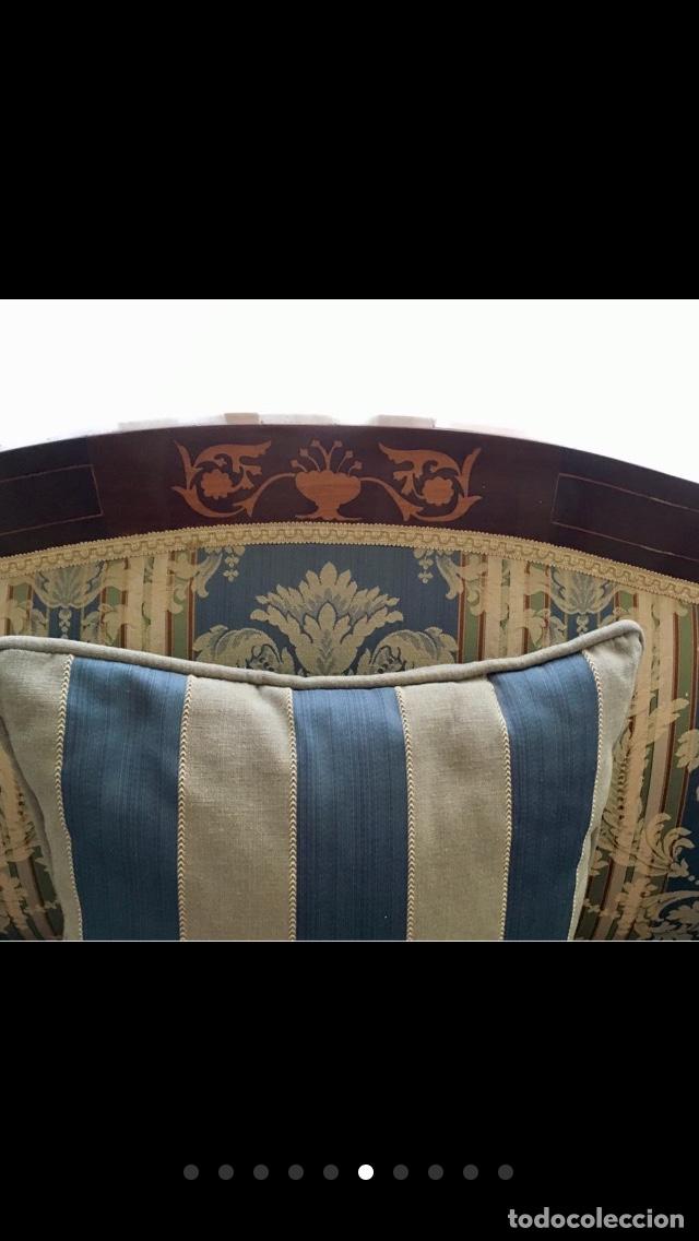 Antigüedades: Sofá tapizado con marquetería - Foto 5 - 171538733