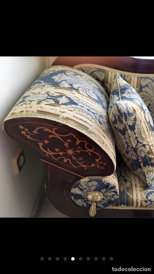 Antigüedades: Sofá tapizado con marquetería - Foto 6 - 171538733