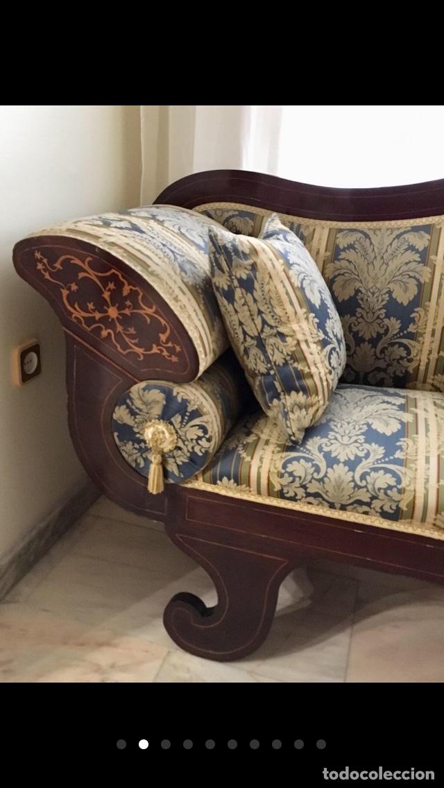 Antigüedades: Sofá tapizado con marquetería - Foto 9 - 171538733