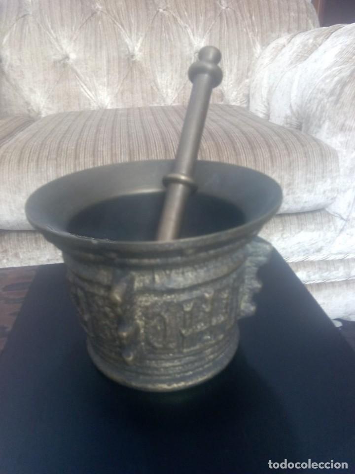 Antigüedades: IMPRESIONANTE Y DECORADO ALMIREZ DE BRONCE - Foto 2 - 171544592