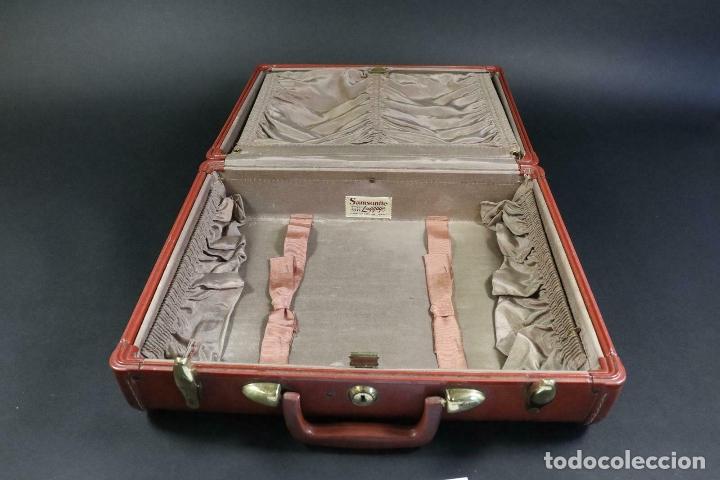 Antigüedades: ANTIGUA MALETA DE LUJO SANSONITE PIEL Y TELA DE SEDA INTERIOR PIEZA UNICA 39 x 31 x 17,5 cm - Foto 9 - 171551099