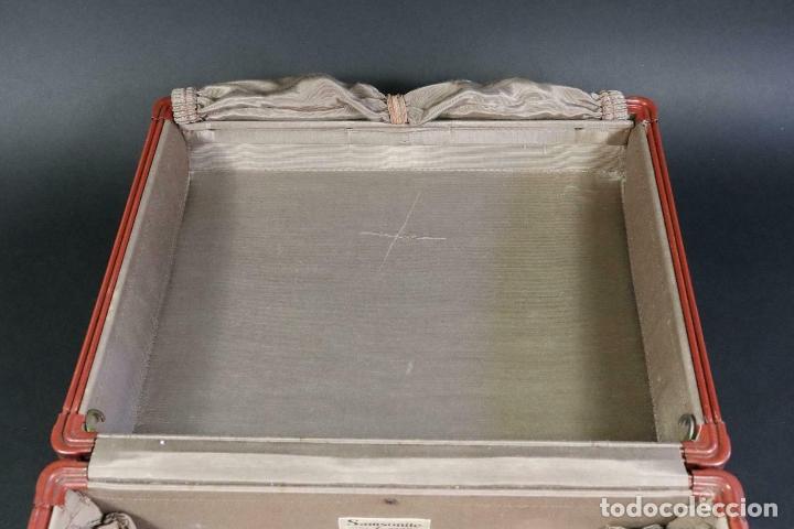 Antigüedades: ANTIGUA MALETA DE LUJO SANSONITE PIEL Y TELA DE SEDA INTERIOR PIEZA UNICA 39 x 31 x 17,5 cm - Foto 17 - 171551099