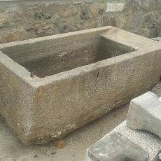 Antigüedades: IMPRESIONANTE PILON PILA FREGADERO LAVADERO ANTIGUO DE PIEDRA DE GRANITO DE UNA PIEZA GRAN MEDIDA. Lote 171551504