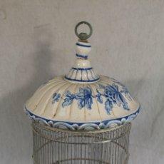 Antigüedades: JAULA ANTIGUA DE CERAMICA. Lote 245339505