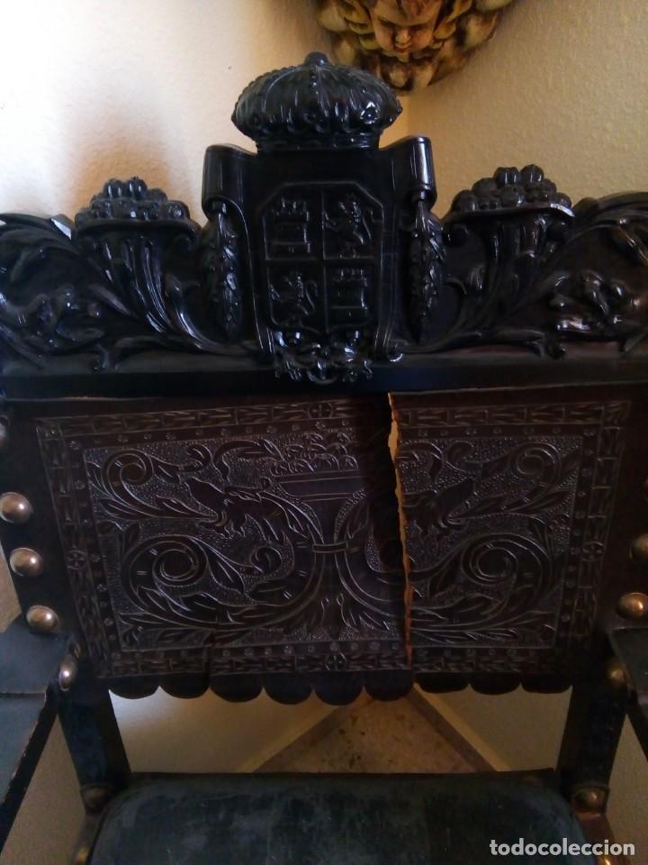 Antigüedades: Pareja sillones renacimiento - Foto 3 - 171597249