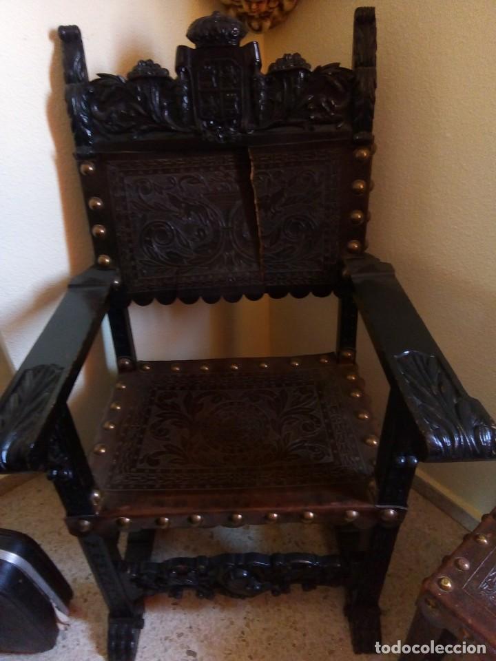 Antigüedades: Pareja sillones renacimiento - Foto 4 - 171597249