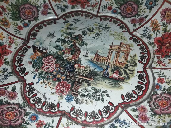 Antigüedades: Antiguo centro de mesa frutero litografiado Daher Decoration Ware England años 60/70 - Foto 4 - 171604380
