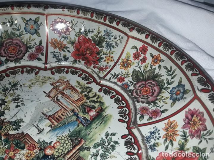 Antigüedades: Antiguo centro de mesa frutero litografiado Daher Decoration Ware England años 60/70 - Foto 5 - 171604380