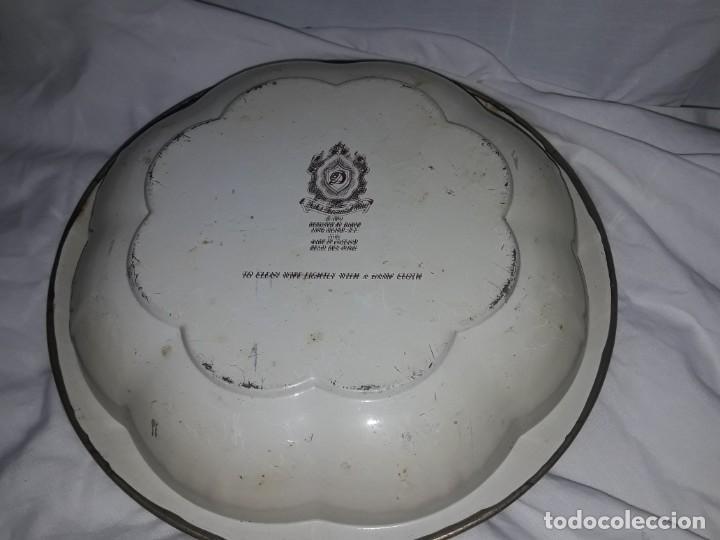 Antigüedades: Antiguo centro de mesa frutero litografiado Daher Decoration Ware England años 60/70 - Foto 6 - 171604380