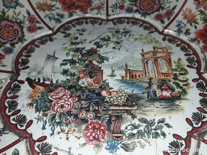Antigüedades: Antiguo centro de mesa frutero litografiado Daher Decoration Ware England años 60/70 - Foto 8 - 171604380