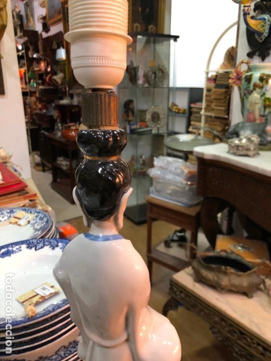 Antigüedades: FANTASTICA LAMPARA CERAMICA MANISES MODELO ORIENTAL CHINA - MEDIDA 53 CM - Foto 9 - 171624613