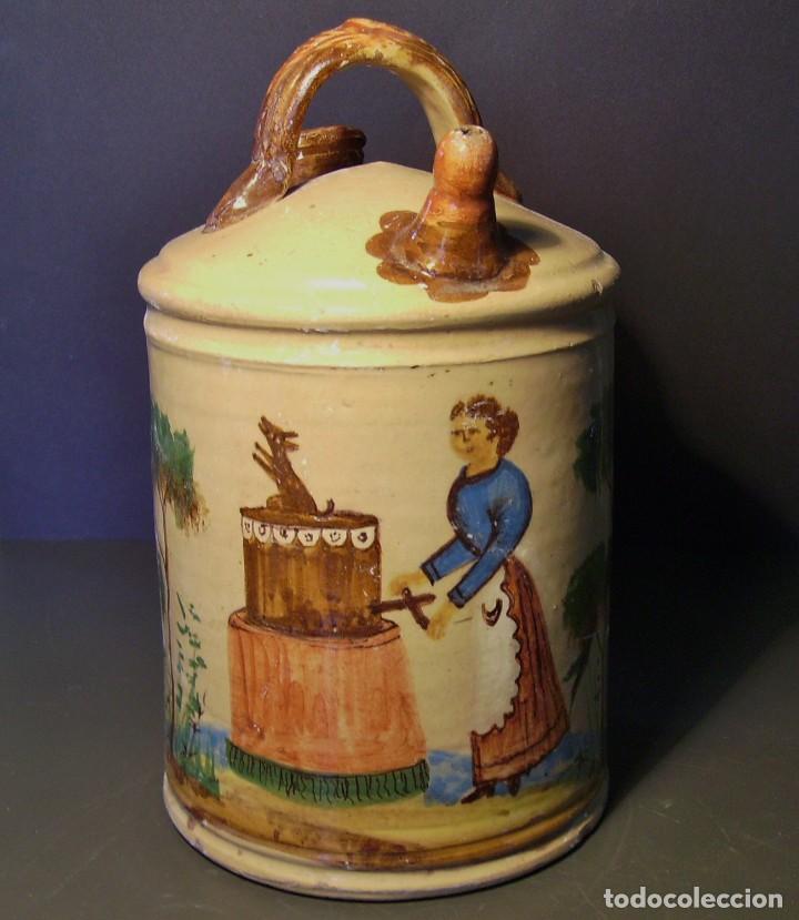 GRAN BOTIJO CERÁMICA DE MANISES XIX - XX (Antigüedades - Porcelanas y Cerámicas - Manises)